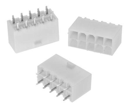 Wurth Elektronik , WR-MPC4, 2 Way, 2 Row, Straight PCB Header (5)