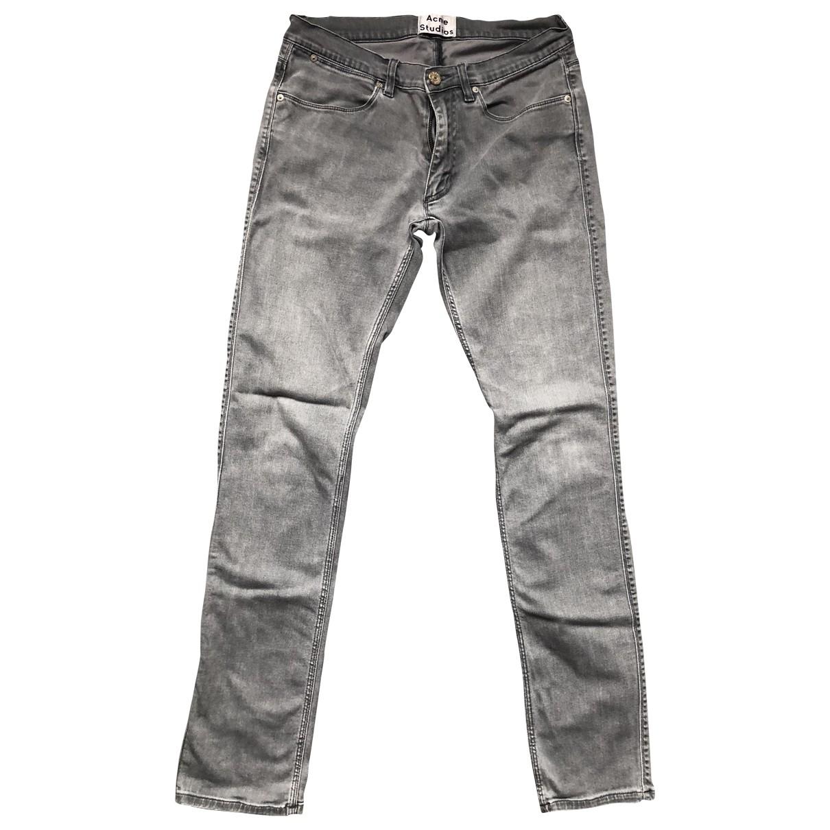 Acne Studios \N Grey Cotton Jeans for Men 38 FR