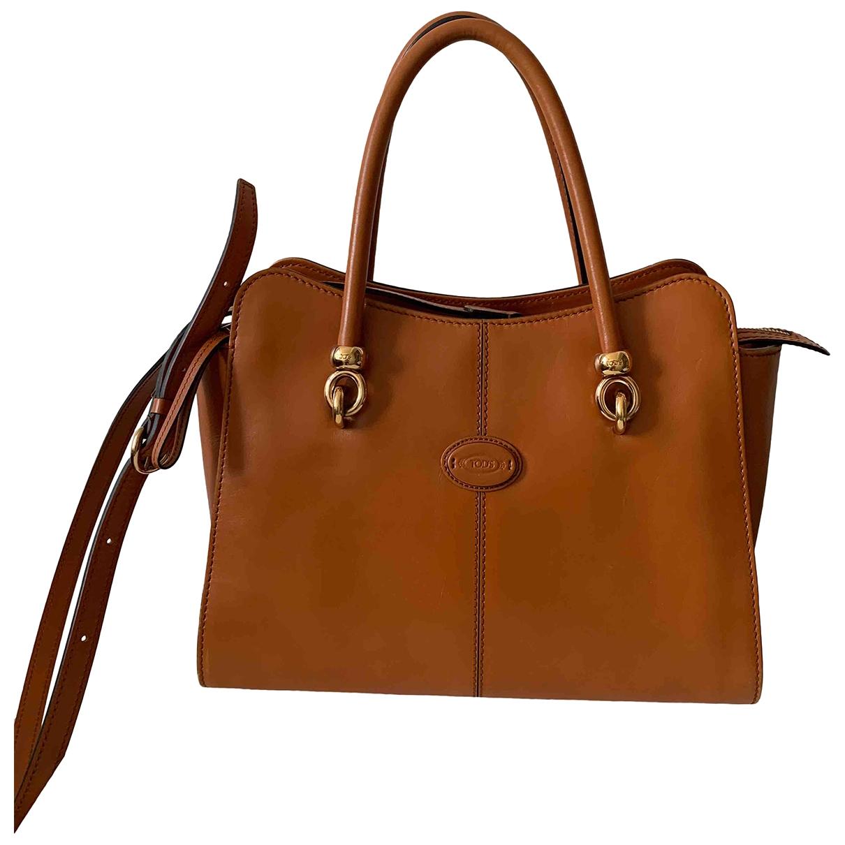 Tods Wave Camel Leather handbag for Women \N