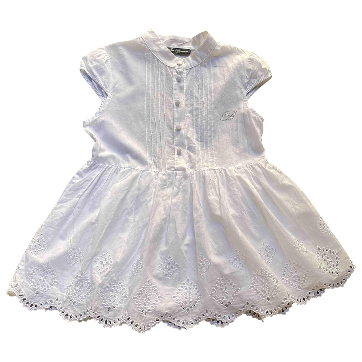 Blumarine \N Kleid in  Weiss Baumwolle