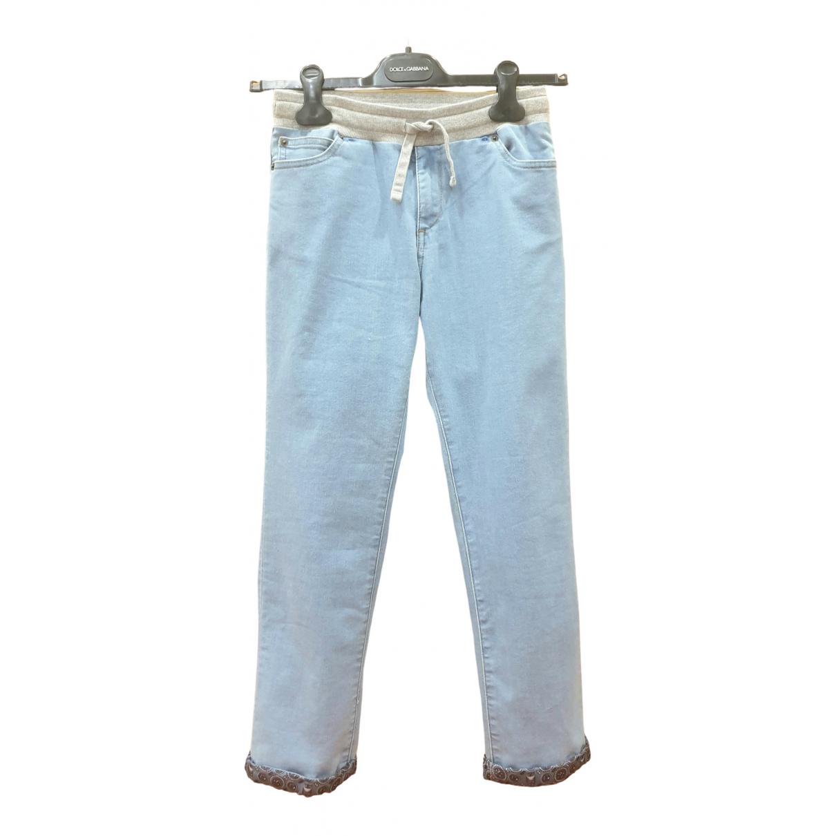 Dolce & Gabbana - Pantalon   pour enfant en coton - bleu