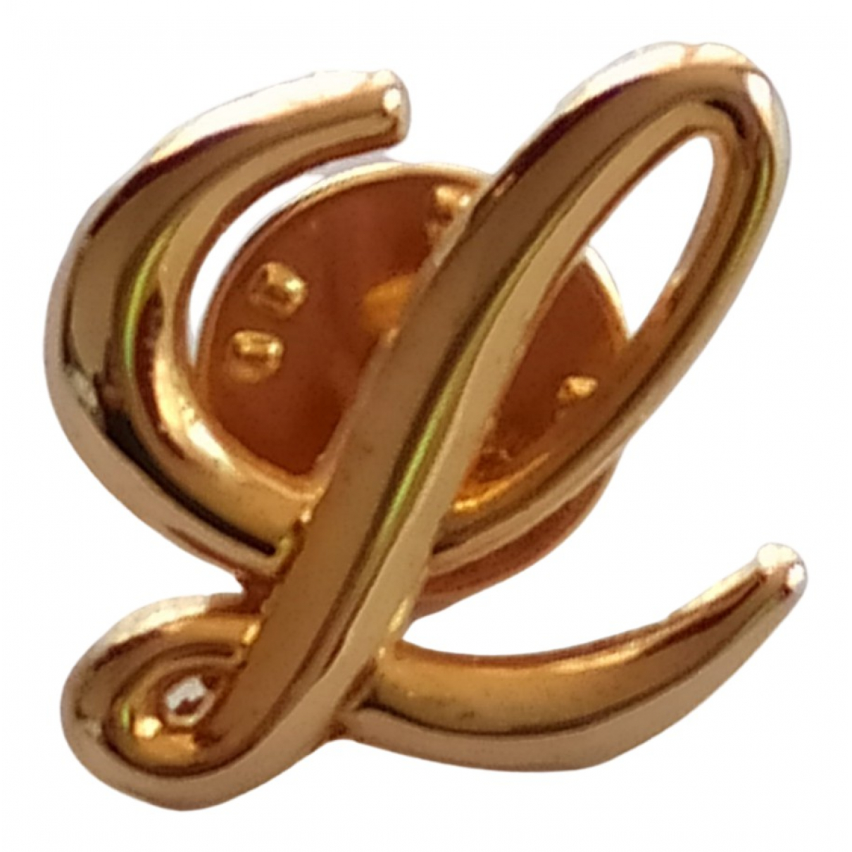Broche en Metal Dorado Loewe