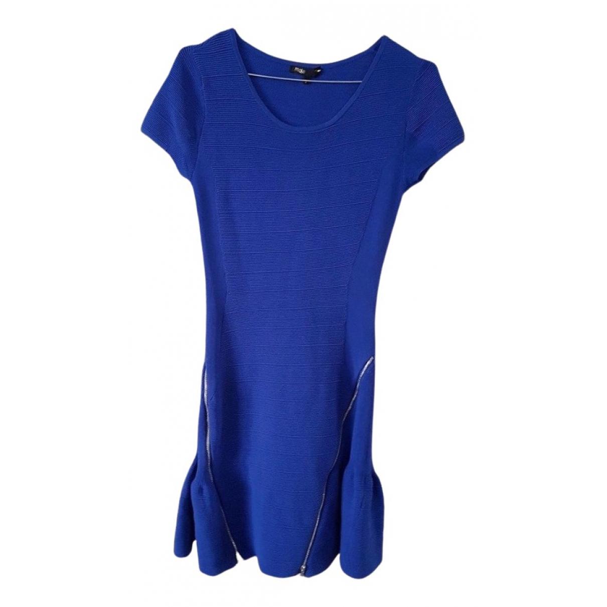 Maje N Blue dress for Women 36 FR