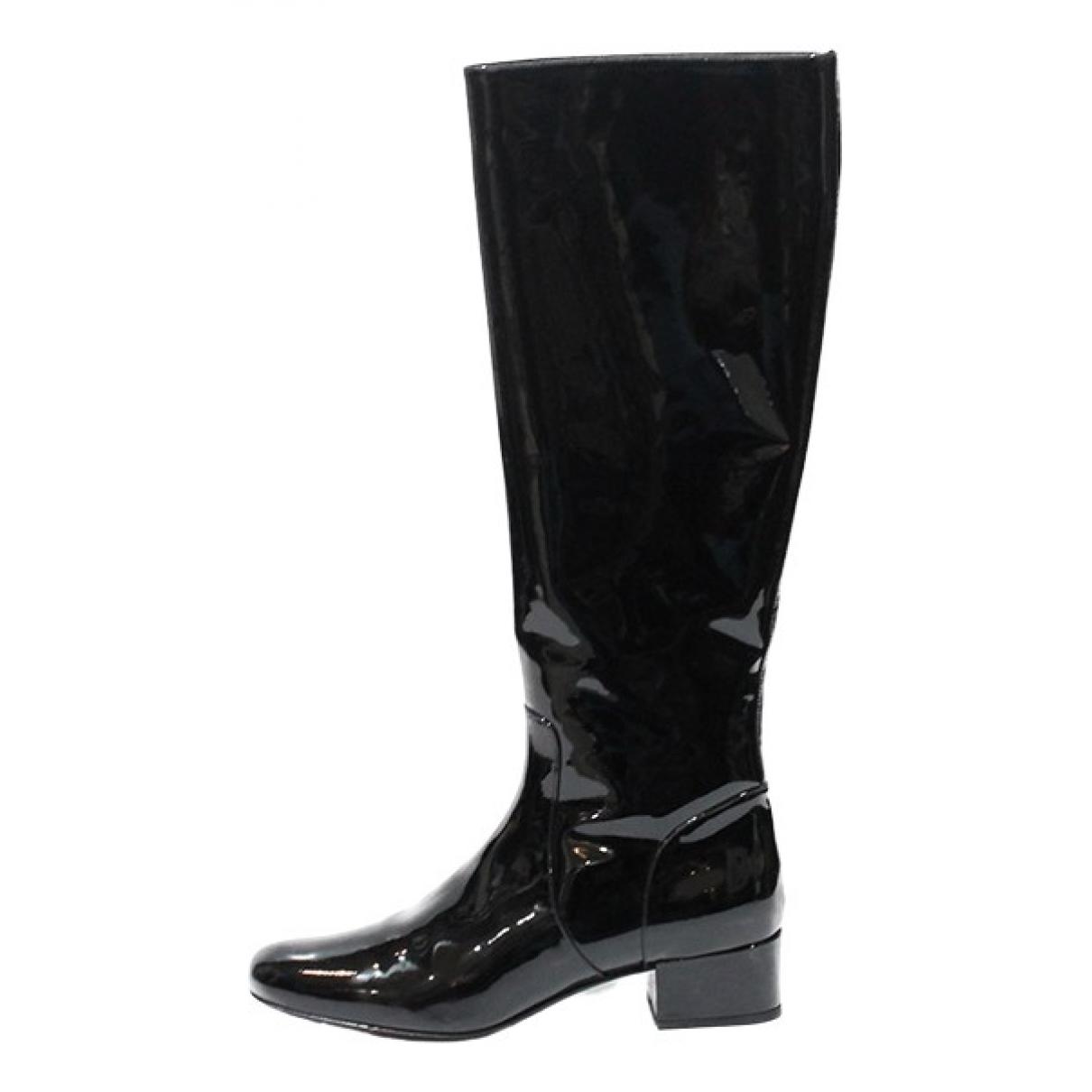 Saint Laurent \N Stiefel in  Schwarz Lackleder