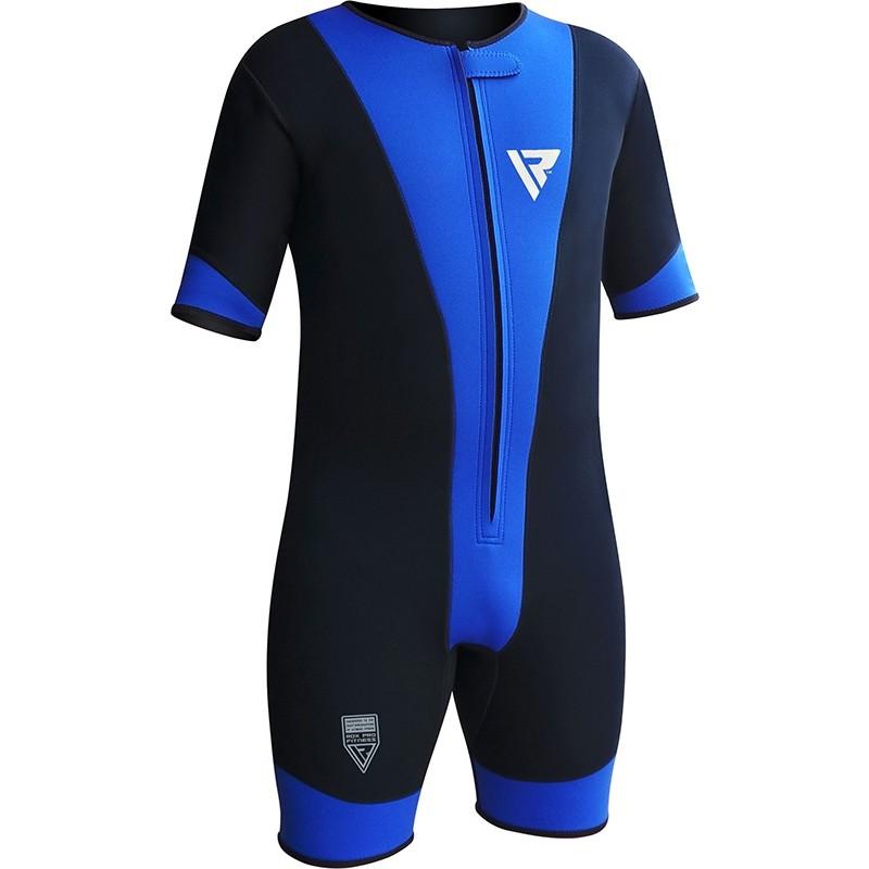 RDX 1U Camiseta de Compresion Ultra Flex Neopreno Azul 3 Extra Grande