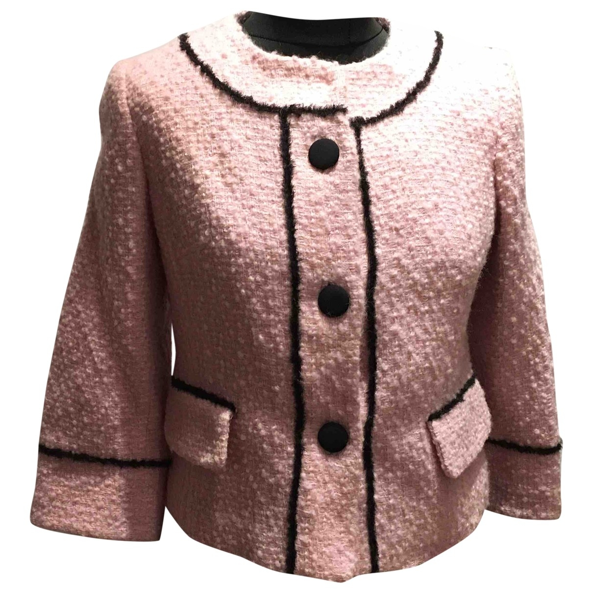 Milly - Veste   pour femme en laine - rose