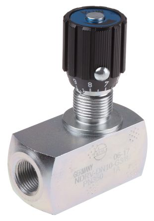 RS PRO Line Mounting Hydraulic Flow Control Valve, G 3/8, 350 bar