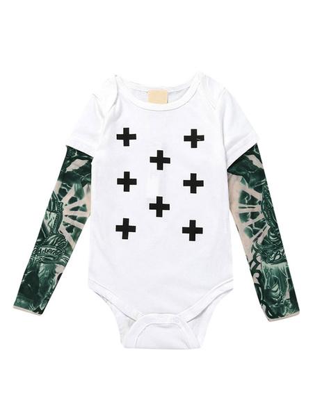 Milanoo Baby Onesie Body Disfraz de algodon blanco para niño pequeño