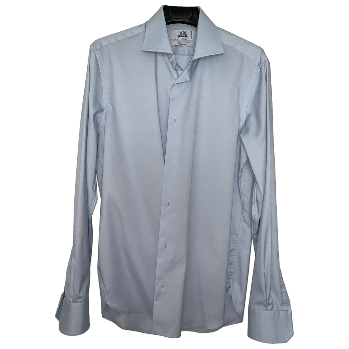 Boggi \N Turquoise Cotton Shirts for Men 39 EU (tour de cou / collar)