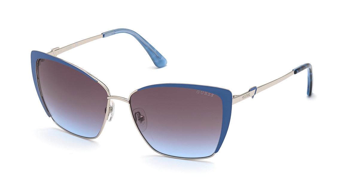 Guess GU 7743 90W Women's Sunglasses Blue Size 59