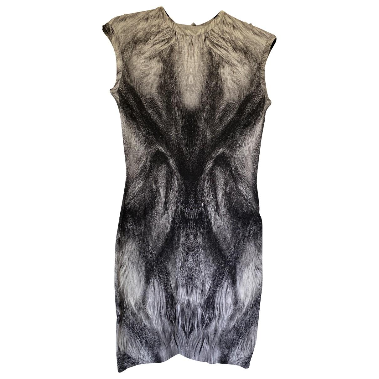 Alexander Mcqueen - Robe   pour femme en laine - gris