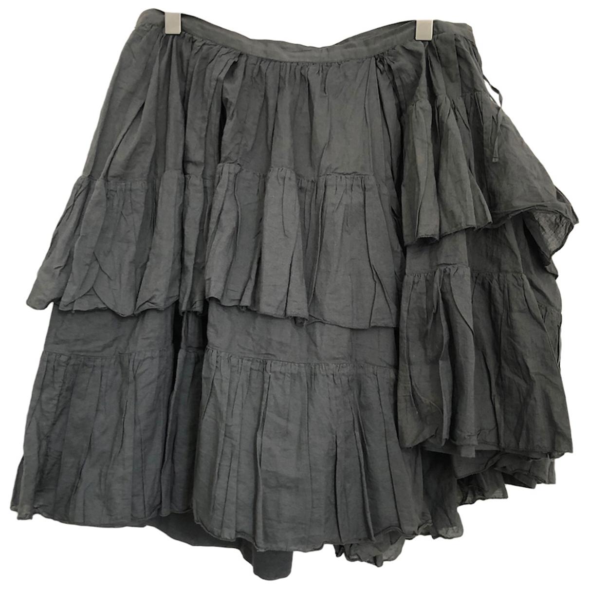 Dries Van Noten - Jupe   pour femme en coton - anthracite