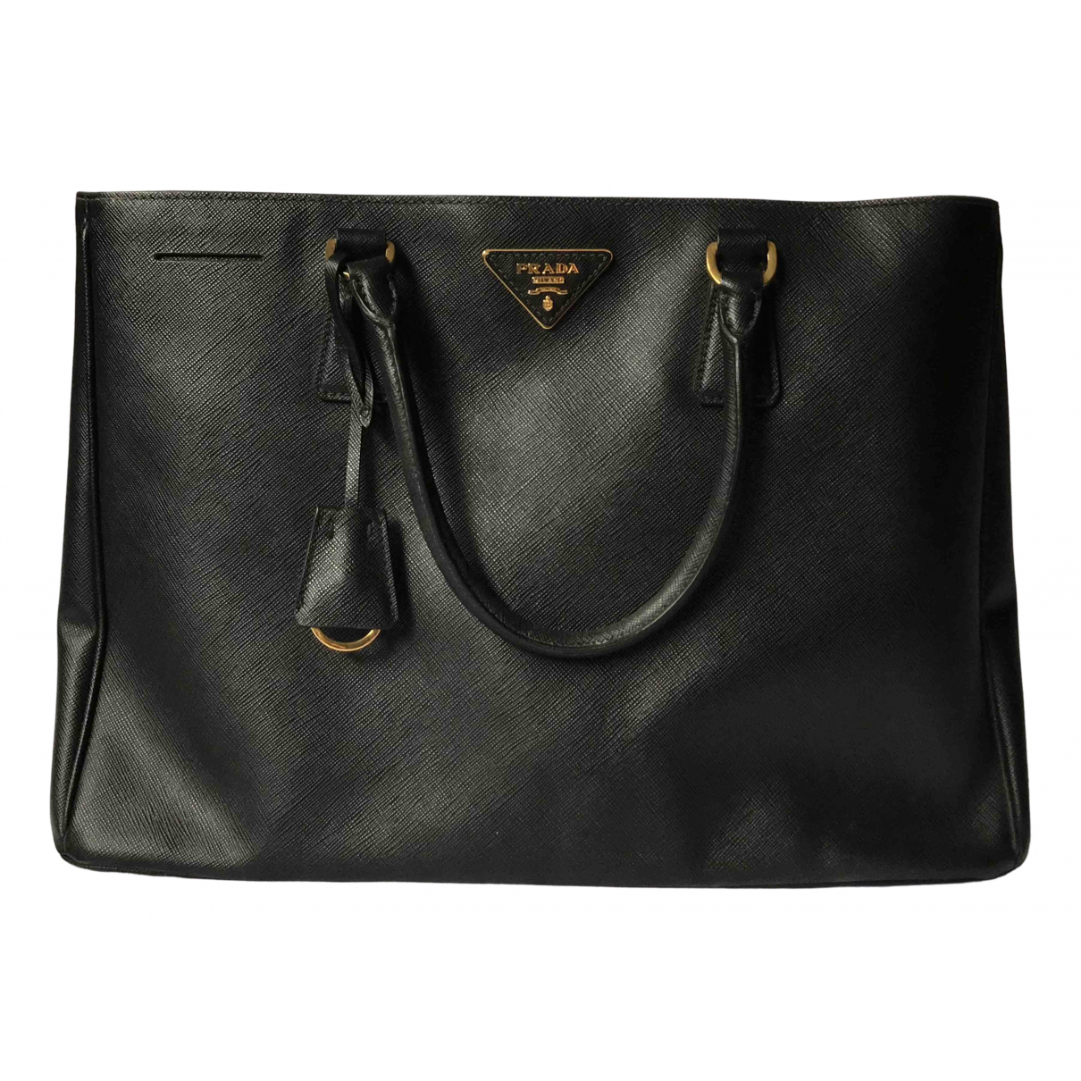 Prada saffiano  Black Leather handbag for Women \N