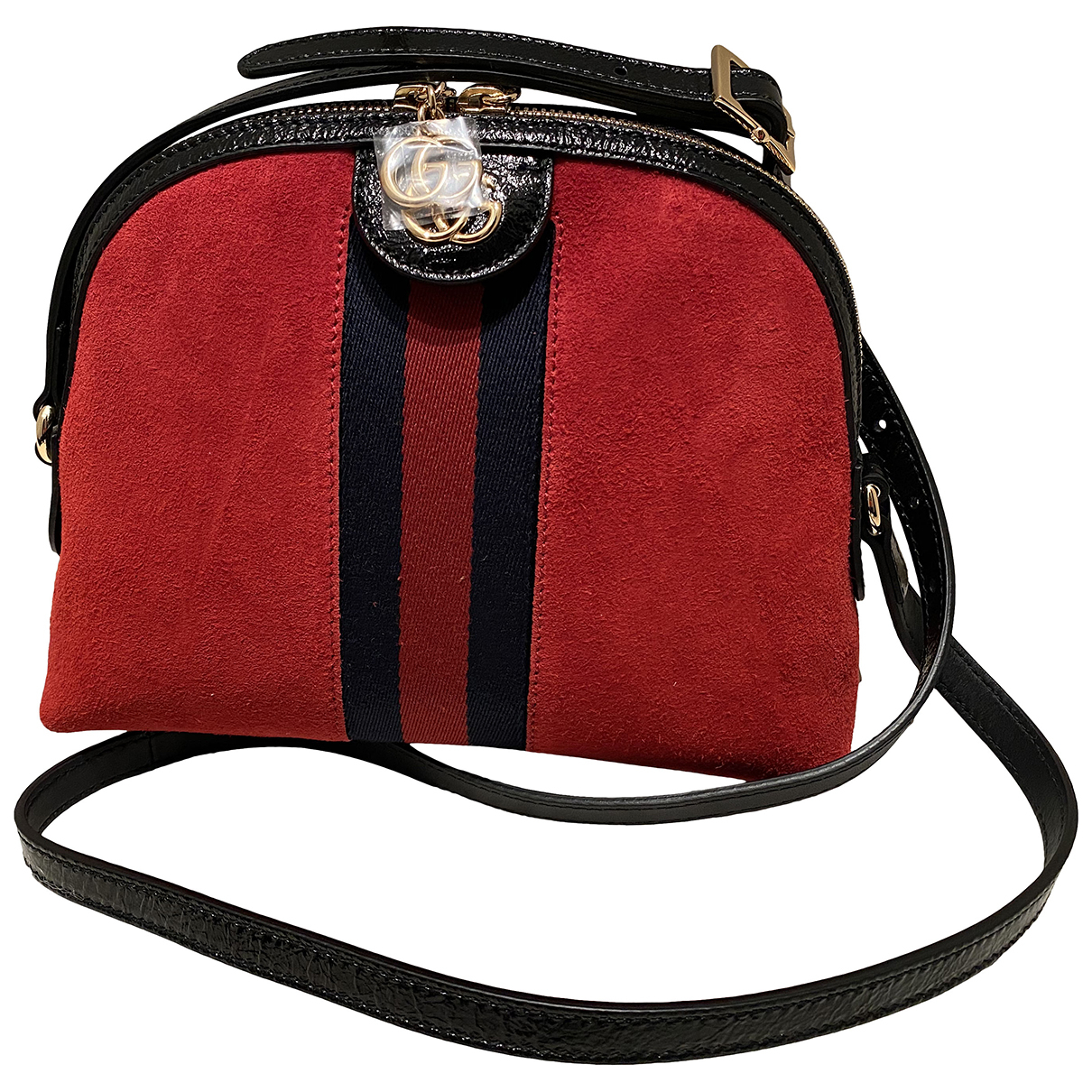 Gucci Ophidia Handtasche in  Rot Veloursleder