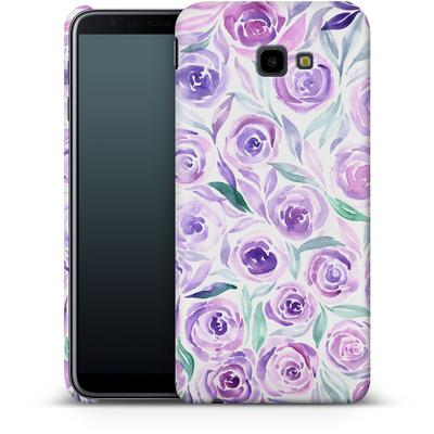 Samsung Galaxy J4 Plus Smartphone Huelle - Purple Rose Floral von Becky Starsmore
