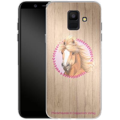 Samsung Galaxy A6 Silikon Handyhuelle - Pferdefreunde Herzen von Pferdefreunde