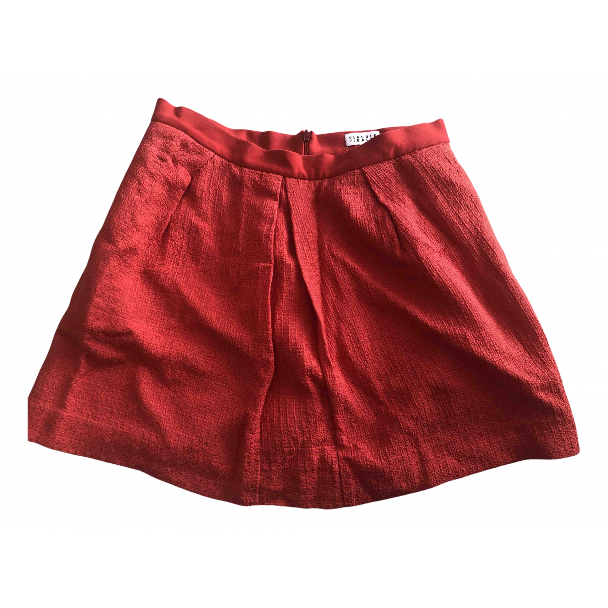 Claudie Pierlot - Jupe   pour femme en coton - rouge