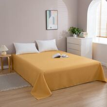 Einfarbige flache Bettdecke