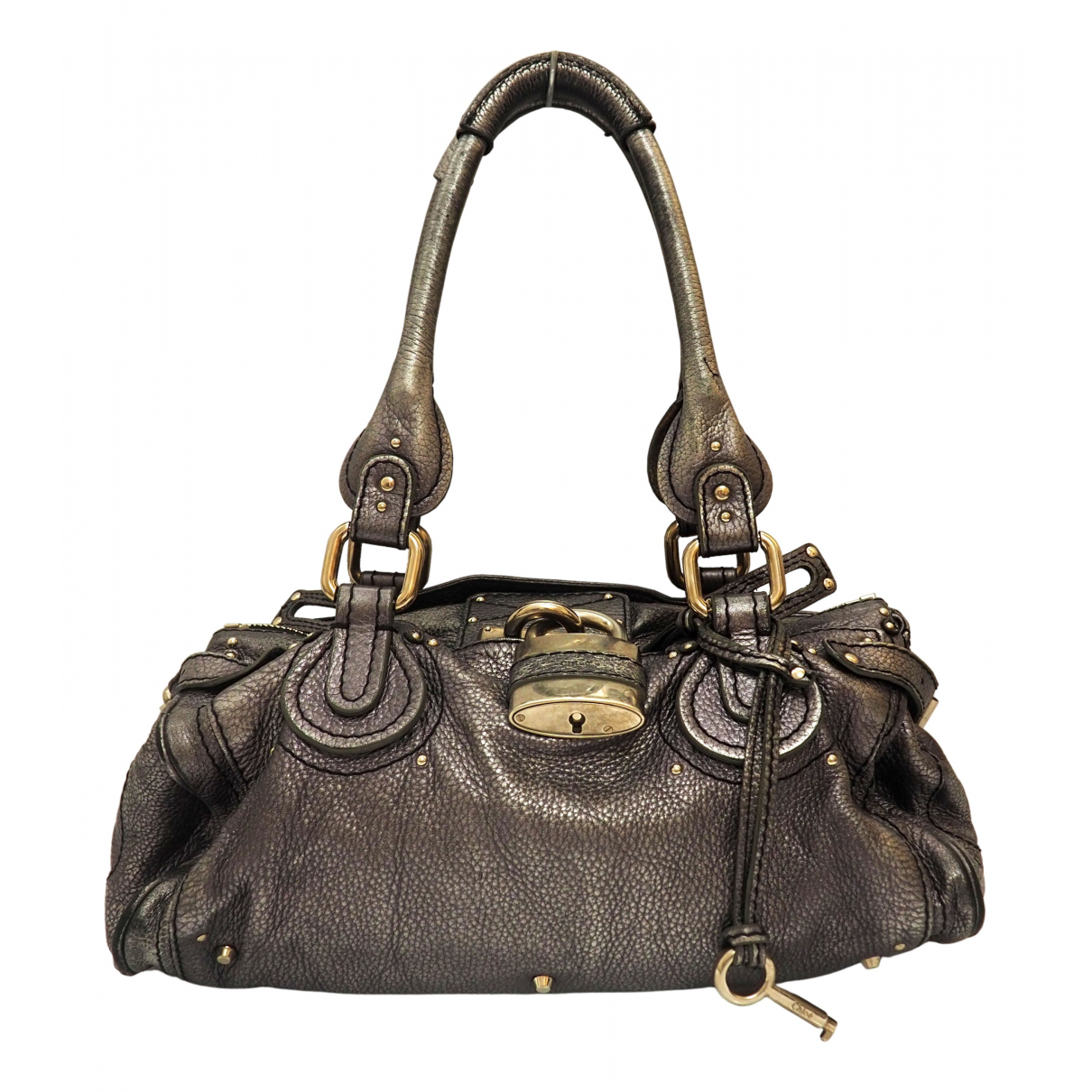 Chloe Paddington Handtasche in  Metallic Leder