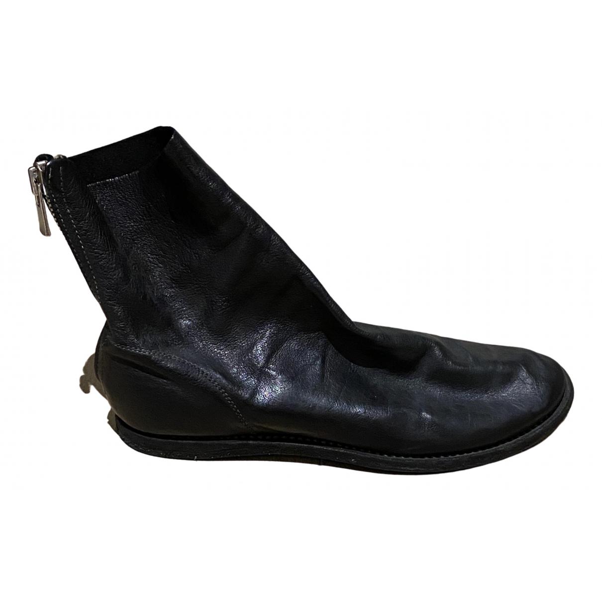 Guidi - Boots   pour femme en cuir - noir