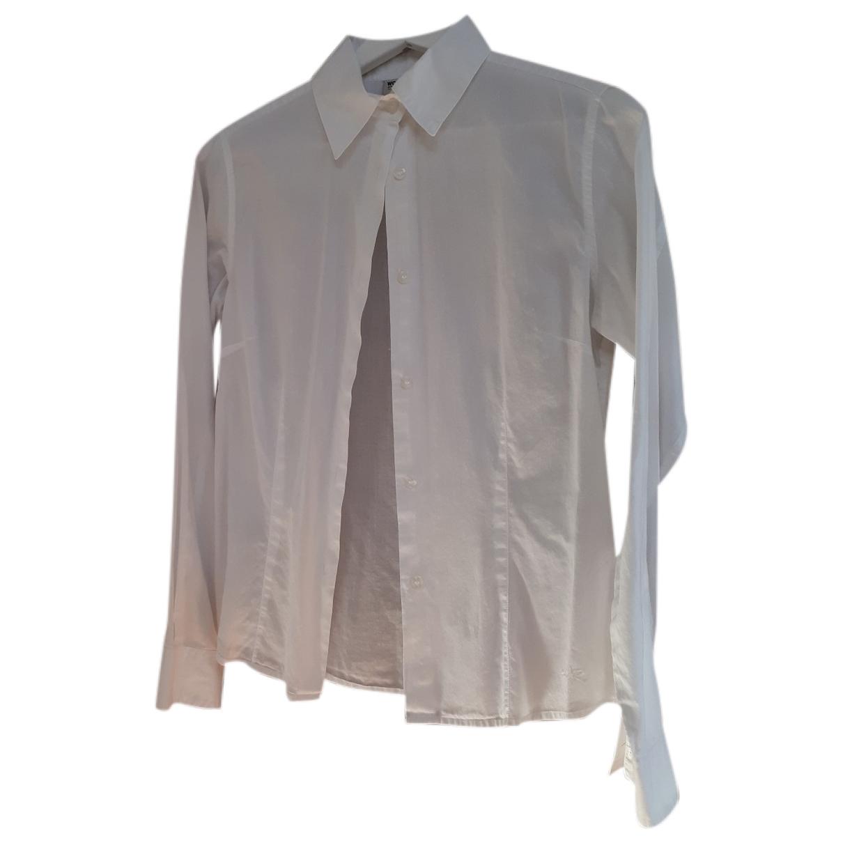 Woolrich - Top   pour femme en coton - blanc