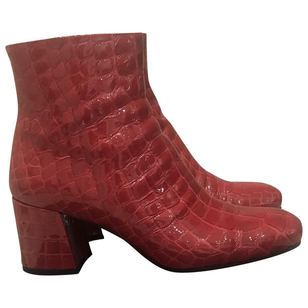 Le Silla \N Burgundy Leather Ankle boots for Women 37.5 EU
