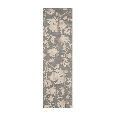 Safavieh Dip Dye Collection Jessie Floral Runner Rug, One Size , Multiple Colors