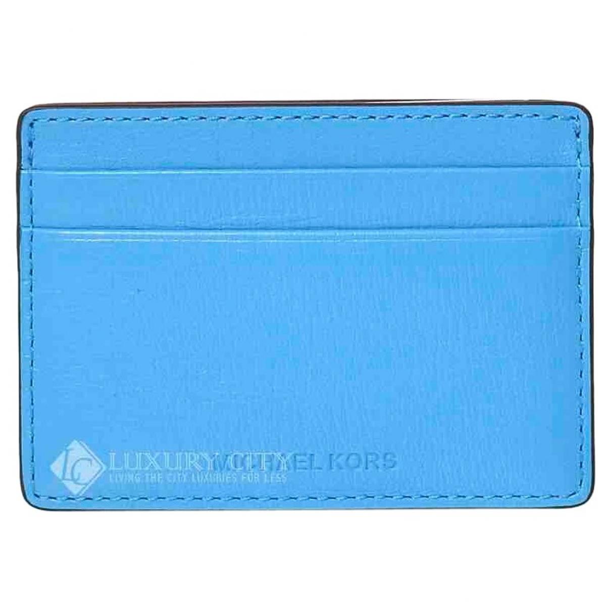 Michael Kors \N Kleinlederwaren in  Blau Leder