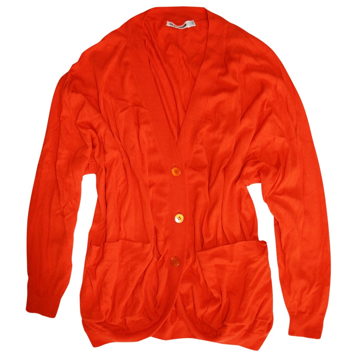 Jil Sander \N Pullover in  Orange Kaschmir