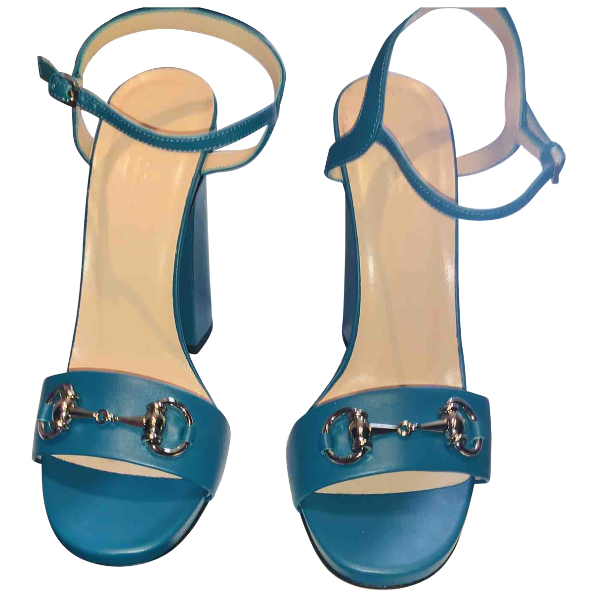 Gucci \N Blue Leather Sandals for Women 38 EU