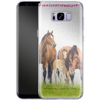 Samsung Galaxy S8 Plus Silikon Handyhuelle - Pferdefreunde Familie von Pferdefreunde