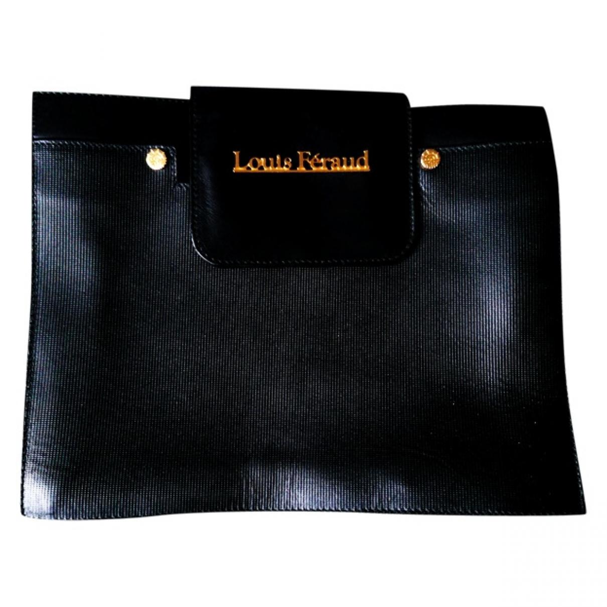 Louis Feraud \N Clutch in  Schwarz Leder