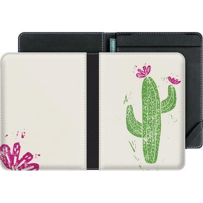 tolino vision 4 HD eBook Reader Huelle - Linocut Cacti von Bianca Green