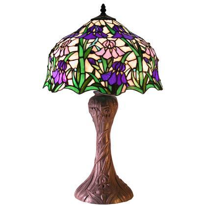 233717 Tiffany-style Iris Table Lamp  CSA Listed  ETL Listed  UL Listed in Multi