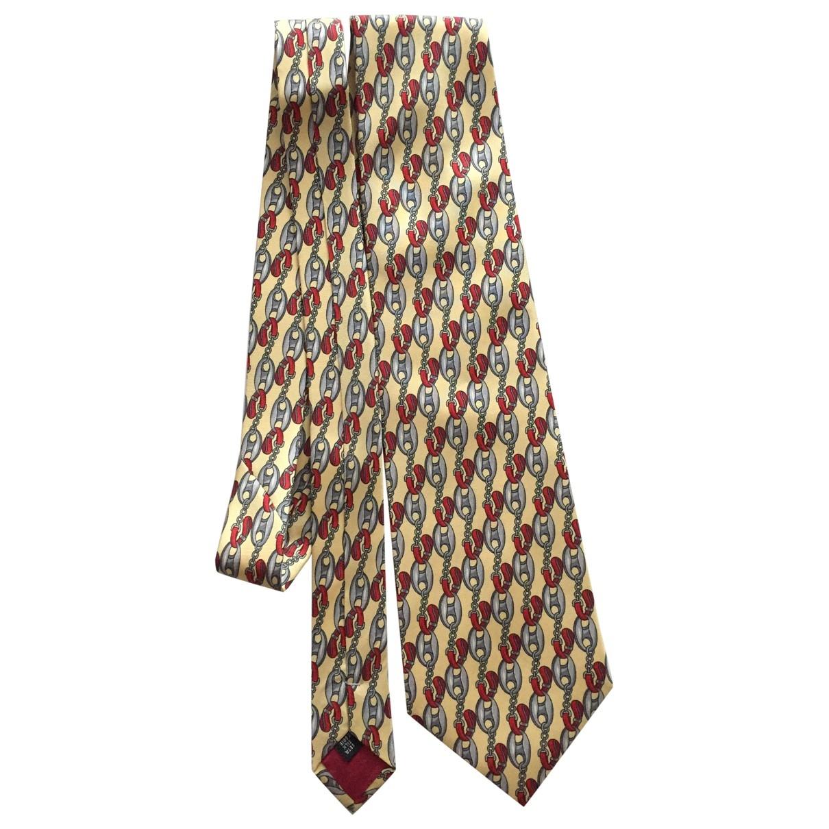Guy Laroche - Cravates   pour homme en soie - jaune