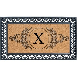 A1HC Rubber and Coir, 30 x 48 Inch, Standard Double/Single Heavy Doormat, Large Size, Rubber Backed, Outdoor Mat (X)