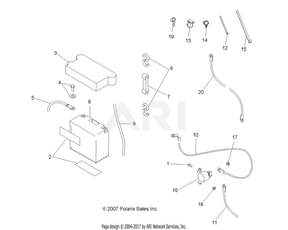 Polaris OEM 4010093 Cable, Solenoid/Starter