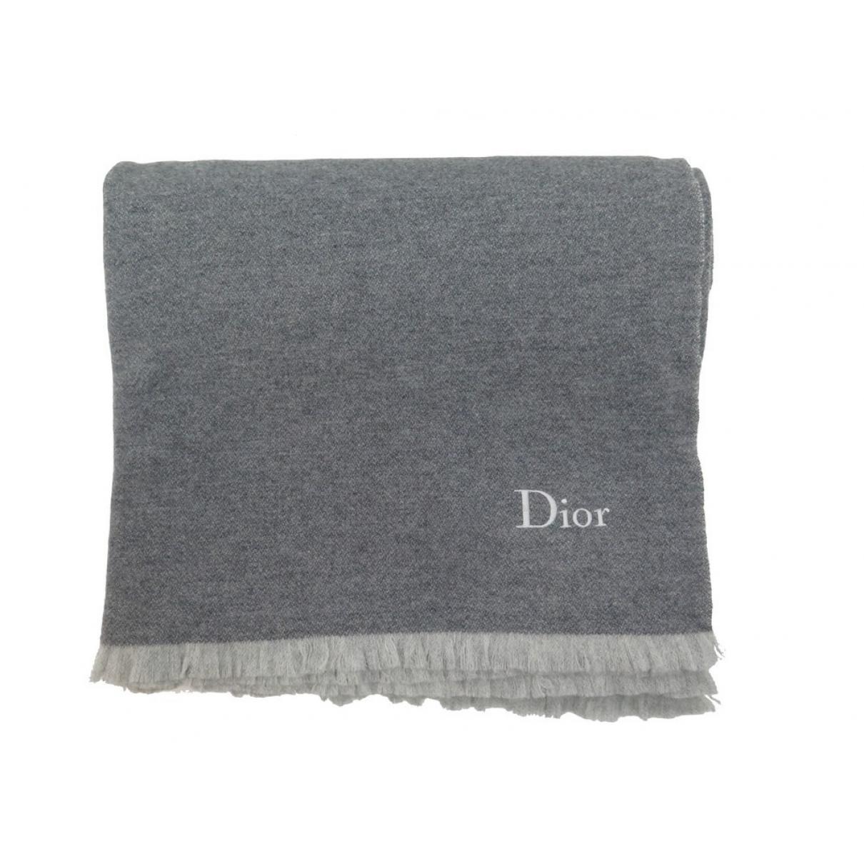 Dior \N Heimtextilien in  Grau Wolle