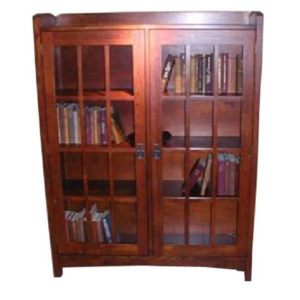 Woodworking Project Paper Plan to Build Mission Style 4-Shelf Bookcase, AFD289