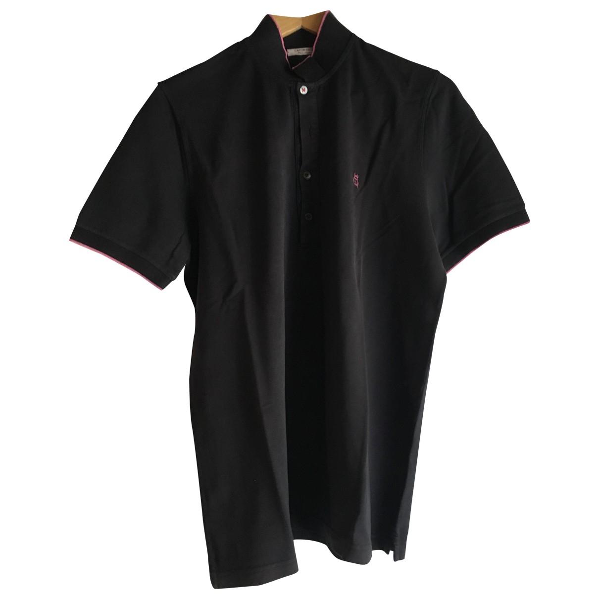 - Polos   pour homme en coton - noir