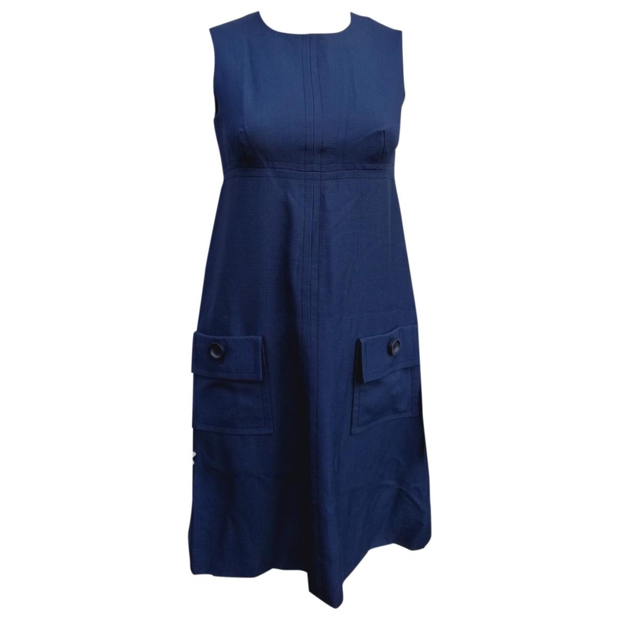 Dior \N Kleid in  Marine Wolle