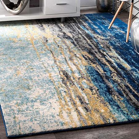 nuLoom Katharina Rug, One Size , Blue
