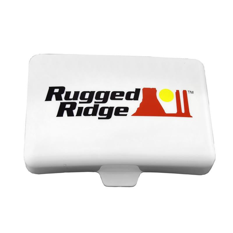 Rugged Ridge 15210.56 Light Cover, 5 Inch x 7 Inch, Rectangular, White, Off Road