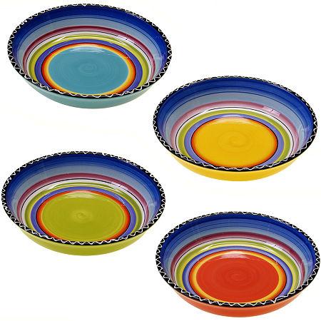 Tequila Sunrise Set of 4 Soup Bowls, One Size , Multiple Colors