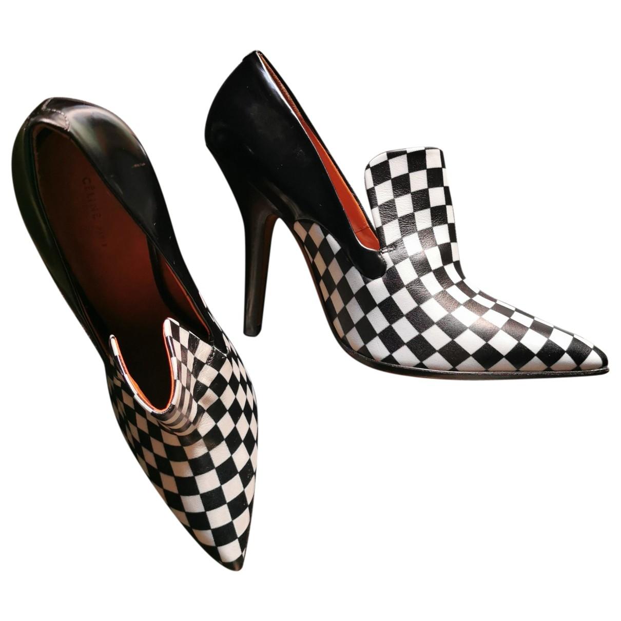 Celine \N Black Leather Heels for Women 39 EU