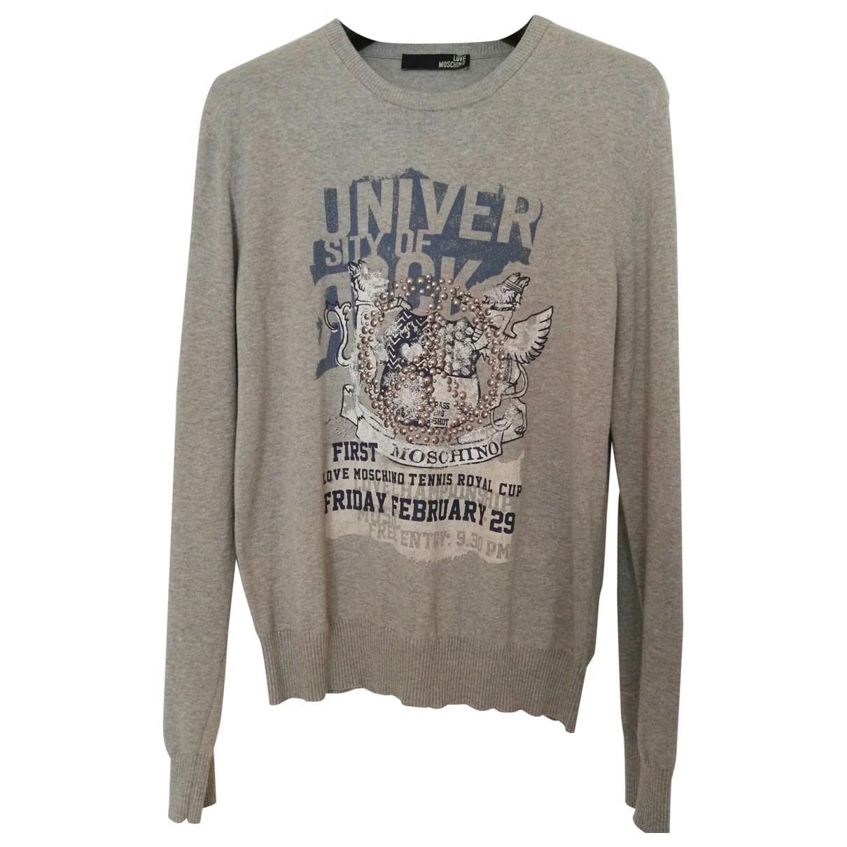 Moschino Love \N Pullover.Westen.Sweatshirts  in  Grau Baumwolle