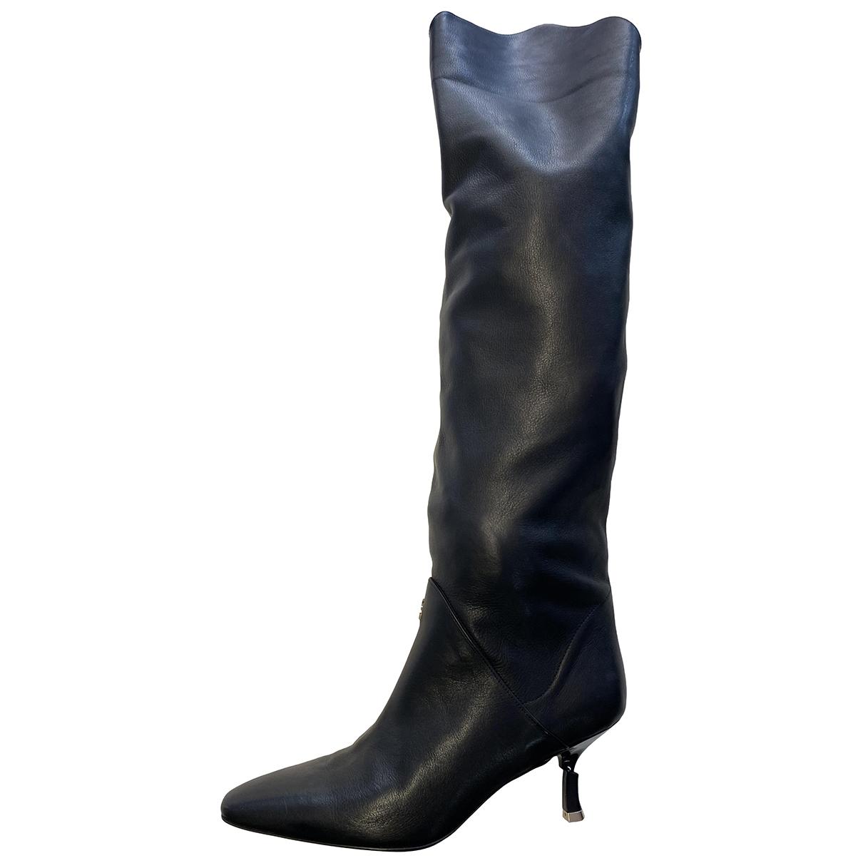 Patrizia Pepe \N Black Leather Boots for Women 38 EU