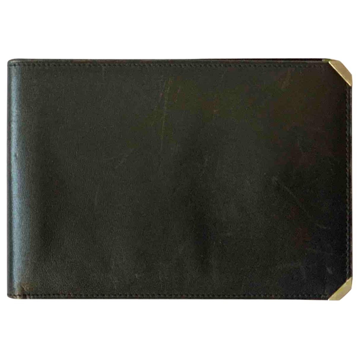 Valextra - Petite maroquinerie   pour homme en cuir - noir