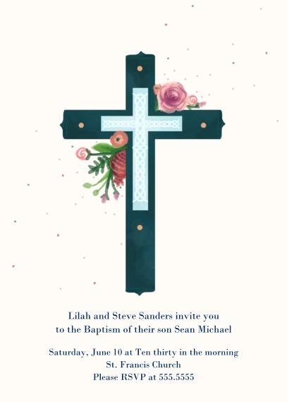 Christening + Baptism Mail-for-Me Premium 5x7 Folded Card , Card & Stationery -Blue Baptism