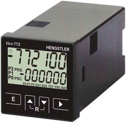 Hengstler TICO 772, 6 Digit, LCD, Digital Counter, 60kHz, 12 → 30 V dc